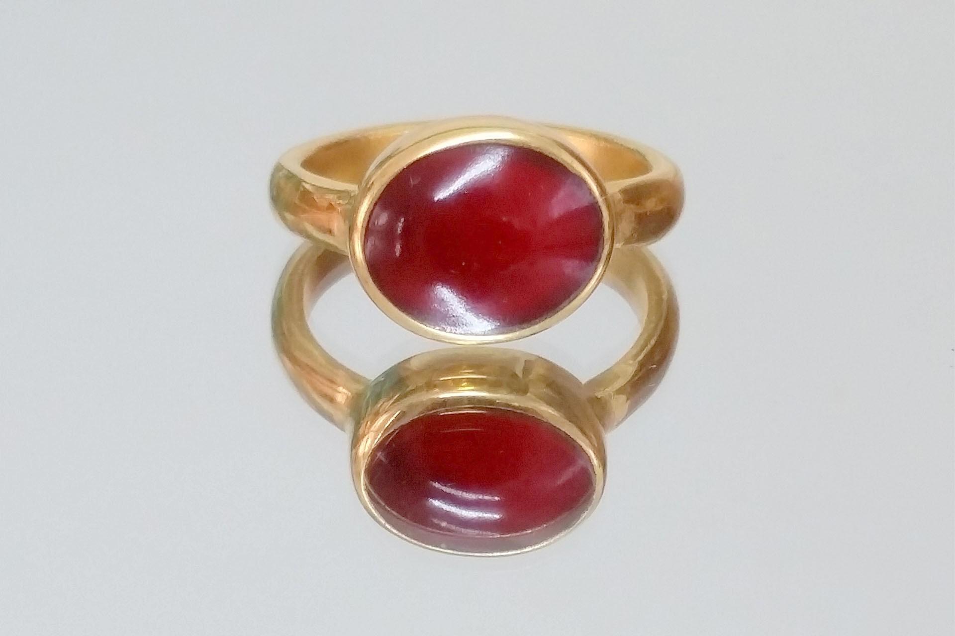 טבעת ראש אובלי וצבע