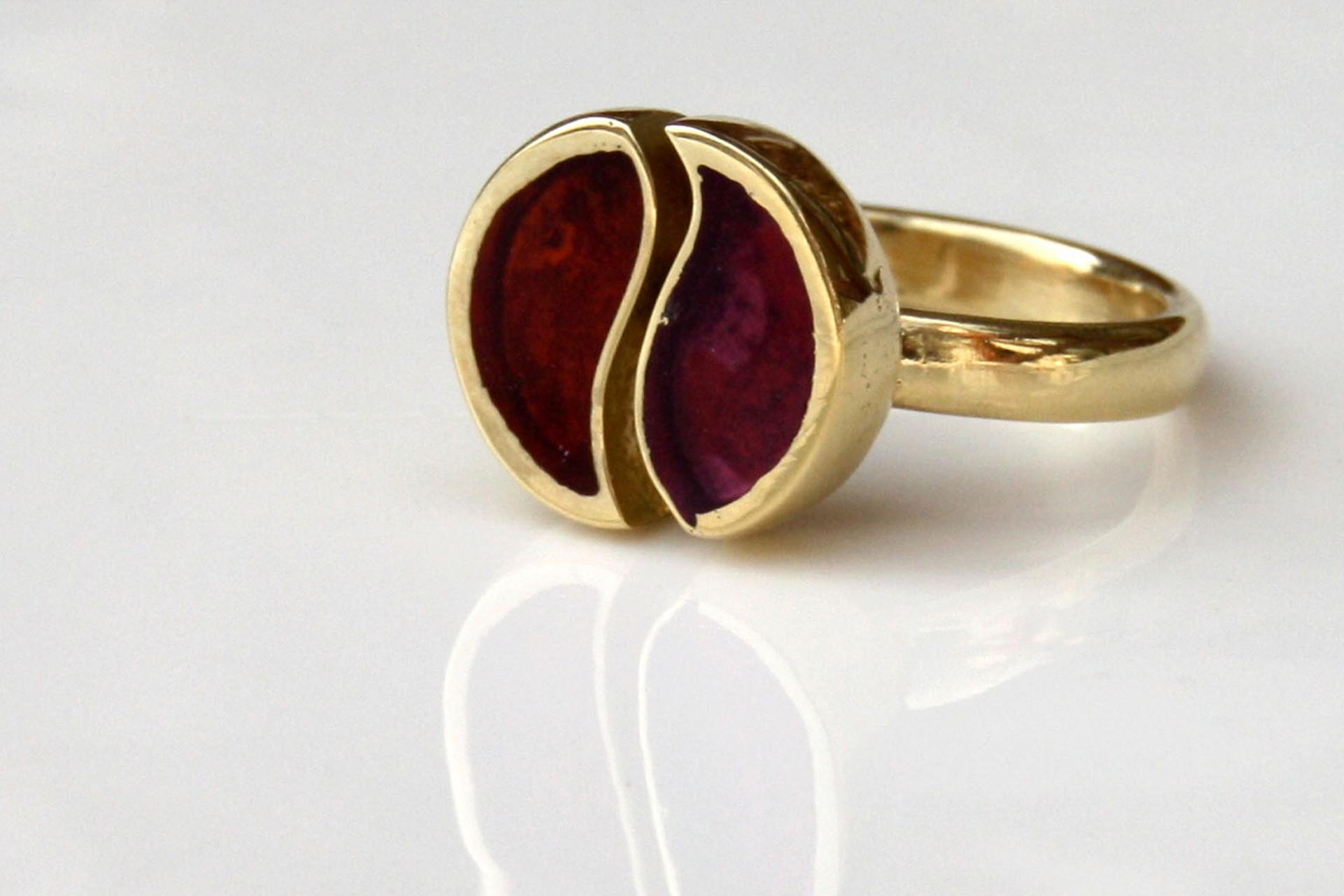 טבעת יין ויאנג בשני צבעים