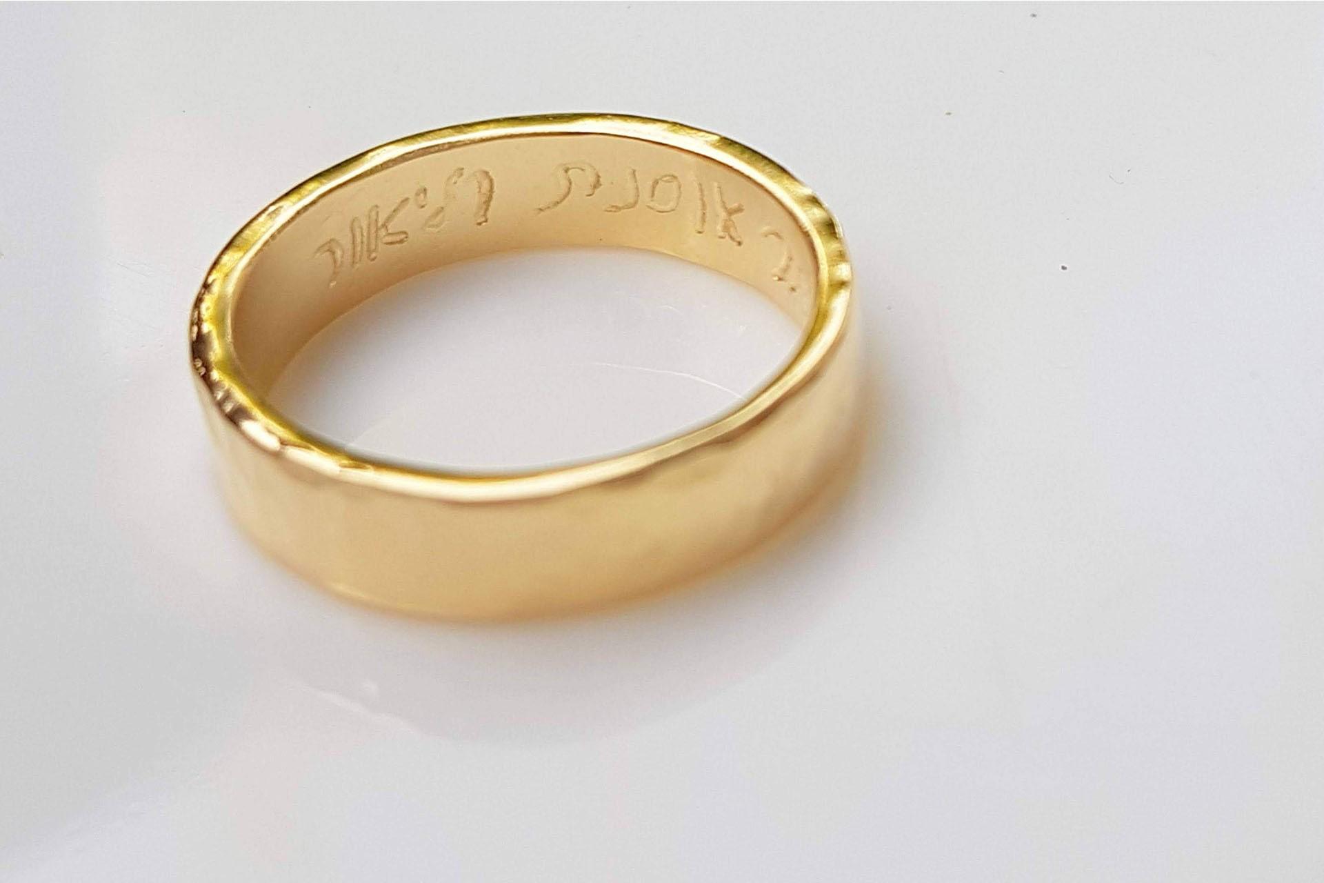 טבעות נישואין - חריטה