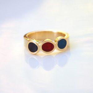 טבעת פס 3 עיגולים