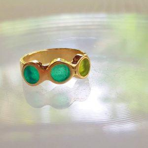 טבעת 3 עיגולים פס