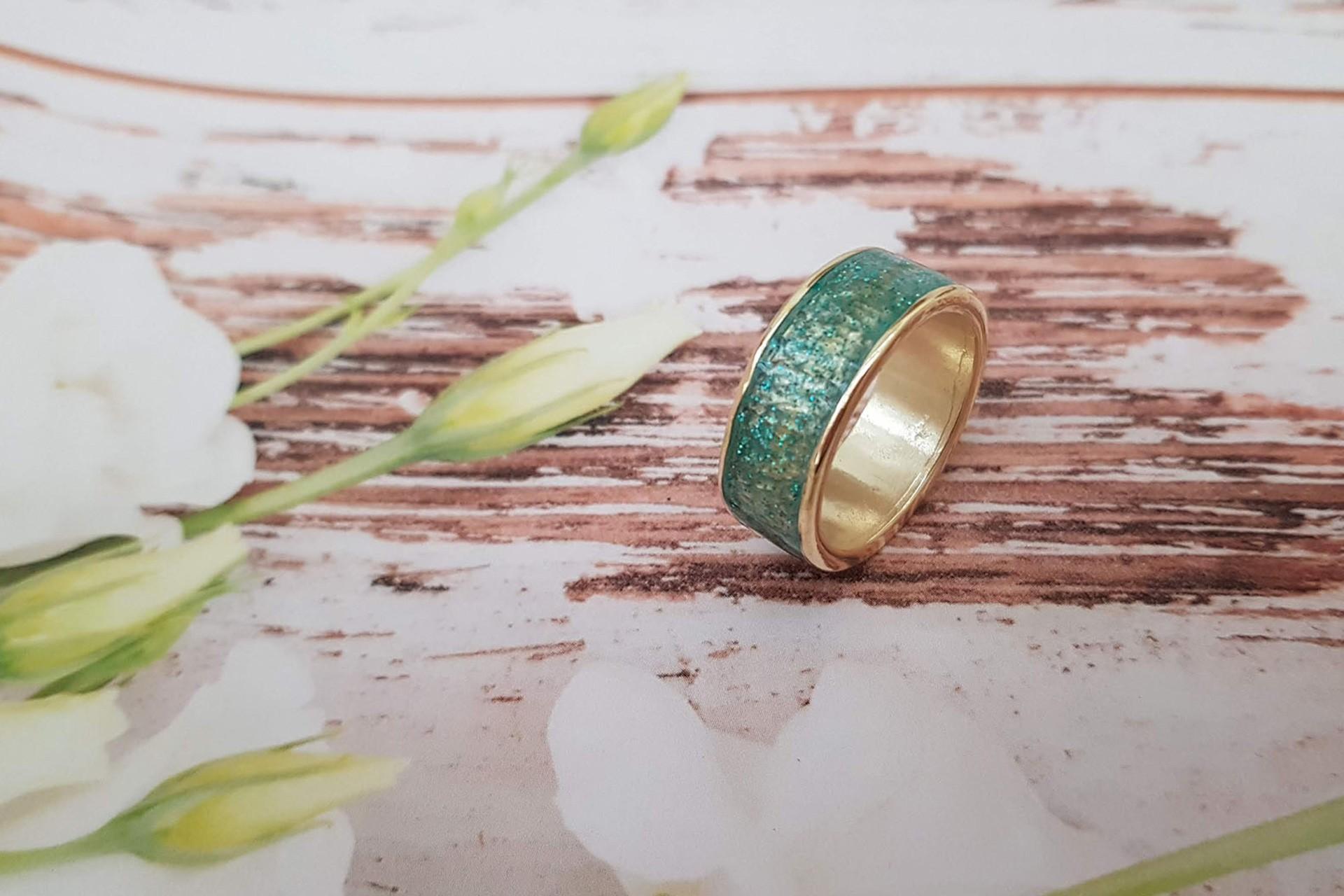 טבעת נצנצים ירוקה