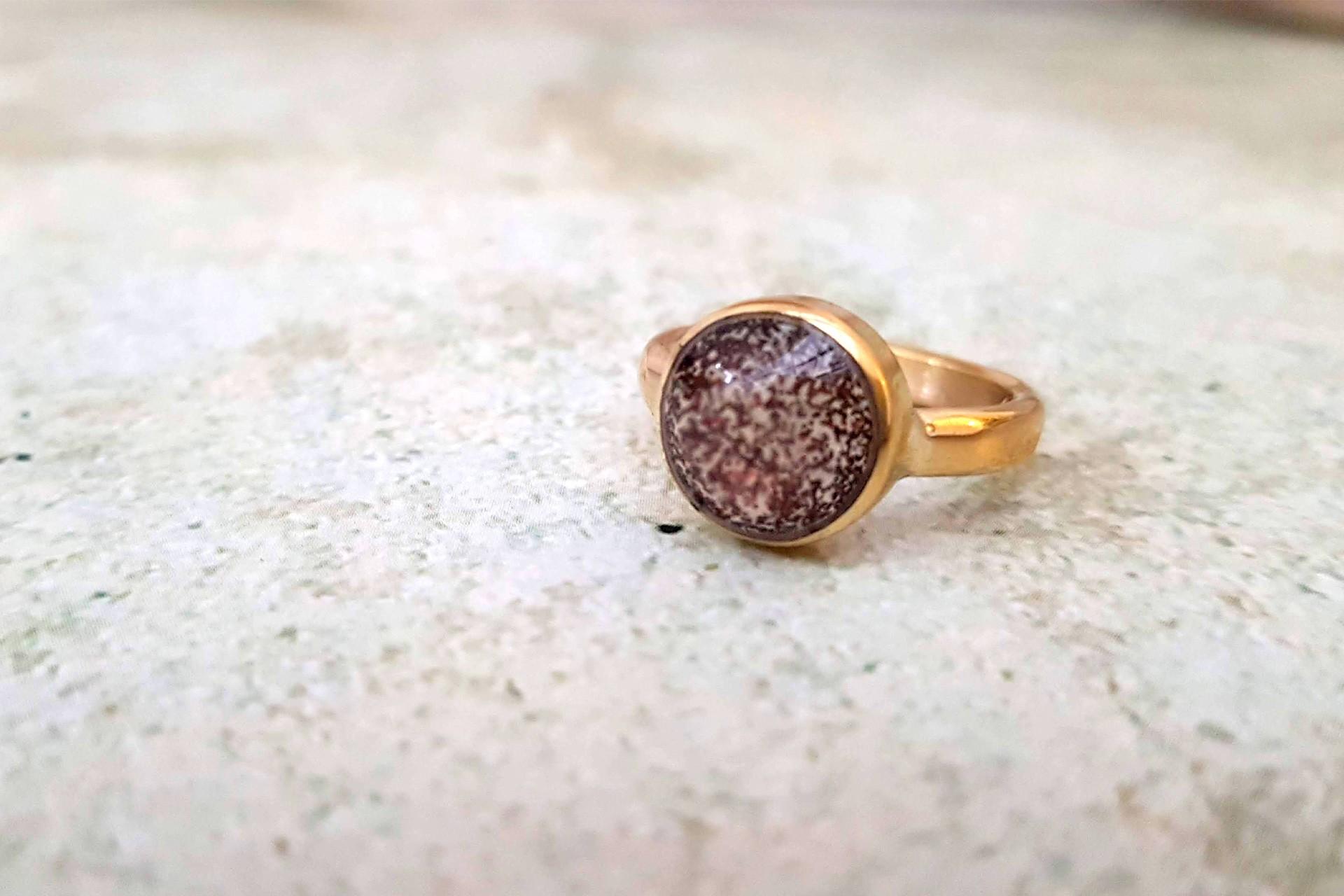 טבעת נצנצים ראש עגול